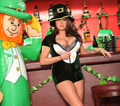Brandy Talore Busting Out of a St Patrick's Day Uniform 6