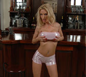 Diamond Foxxx Spotlights Her Big Breasts with a Tease 11