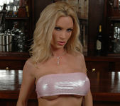 Diamond Foxxx Spotlights Her Big Breasts with a Tease 14