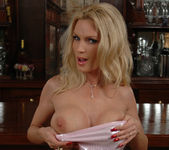 Diamond Foxxx Spotlights Her Big Breasts with a Tease 18