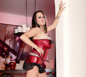 Brandy Talore Stripping and Forced to Tease Herself 12