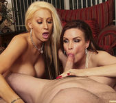 Candy Mason and Diamond Foxxx Make This Blowjob a Threesome 3