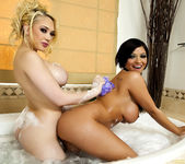 Kagney Linn Karter and Halie James with ''Bath Toys'' 10