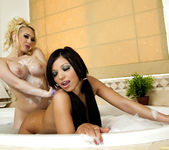 Kagney Linn Karter and Halie James with ''Bath Toys'' 12