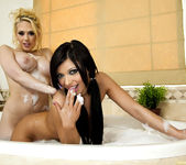 Kagney Linn Karter and Halie James with ''Bath Toys'' 13