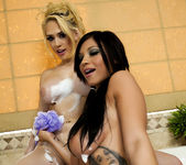 Kagney Linn Karter and Halie James with ''Bath Toys'' 24