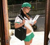 Eva Angelina Goes Door-to-Door in the Bad Girl Skirt 2