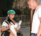 Eva Angelina Goes Door-to-Door in the Bad Girl Skirt 3