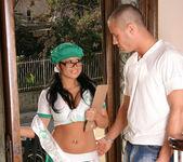 Eva Angelina Goes Door-to-Door in the Bad Girl Skirt 4