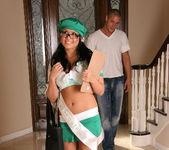 Eva Angelina Goes Door-to-Door in the Bad Girl Skirt 7