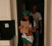 Eva Angelina Goes Door-to-Door in the Bad Girl Skirt 8
