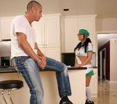 Eva Angelina Goes Door-to-Door in the Bad Girl Skirt 11