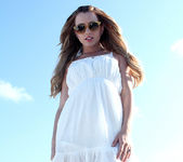 Lexi Belle Strips a White Dress in Public 2