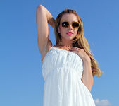 Lexi Belle Strips a White Dress in Public 5