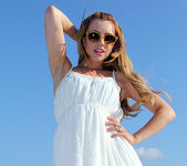 Lexi Belle Strips a White Dress in Public 6