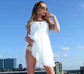 Lexi Belle Strips a White Dress in Public 10
