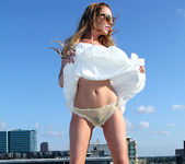 Lexi Belle Strips a White Dress in Public 11