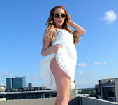 Lexi Belle Strips a White Dress in Public 13