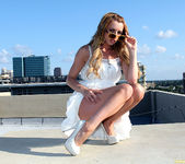 Lexi Belle Strips a White Dress in Public 16