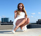 Lexi Belle Strips a White Dress in Public 17