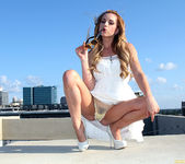 Lexi Belle Strips a White Dress in Public 18