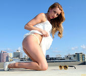 Lexi Belle Strips a White Dress in Public 23