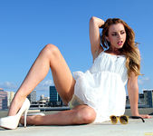 Lexi Belle Strips a White Dress in Public 24