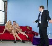 Kagney Linn Karter and Sara Stone - Threesome for Mr. Grumpy 10