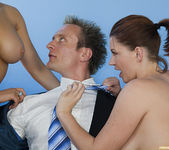 Kagney Linn Karter and Sara Stone - Threesome for Mr. Grumpy 15
