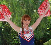 Marie McCray in a Cheering Uniform 2