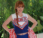 Marie McCray in a Cheering Uniform 3