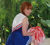 Marie McCray in a Cheering Uniform 6