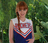 Marie McCray in a Cheering Uniform 14