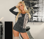 Tasha Reign Wearing Nothing but Thigh-High Boots 6