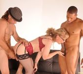 Nina Hartley Gets a 2 on 1 6