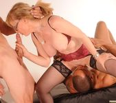 Nina Hartley Gets a 2 on 1 14