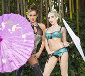 Tory Lane and Christie Stevens Wander in the Woods 7