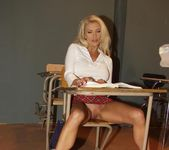 Gorgeous School Girl Monica Star Receives A Lesson 6