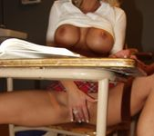 Gorgeous School Girl Monica Star Receives A Lesson 19