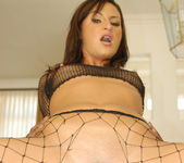 Lola Touches Herself Through Fishnet Gear Before Lex Arrives 10
