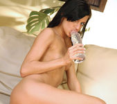 Dark And Perky Zoe Plays With A Thick Dildo And Wine Bottle 27