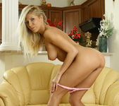 Busty Blonde Clara Gets Confortable With Her Toys 23