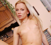 Blonde Czech Babe Jana Plays With Her Panties 17