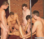 One hot blonde girl fuck five studs to get a job 15