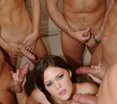 Selena Silver takes on six guys and goes wild... 3
