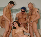 Selena Silver takes on six guys and goes wild... 13