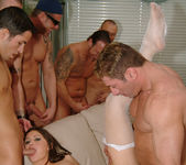 Selena Silver takes on six guys and goes wild... 14