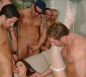 Selena Silver takes on six guys and goes wild... 15