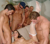 Selena Silver takes on six guys and goes wild... 16