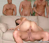 Selena Silver takes on six guys and goes wild... 26